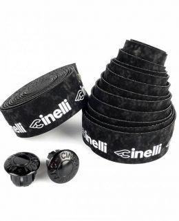 d_Cinelli Logo velvet black Bartape