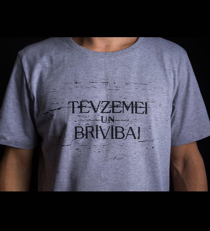 Tfk Tēvzemei Un Brīvībaimen S T Shirt Grey