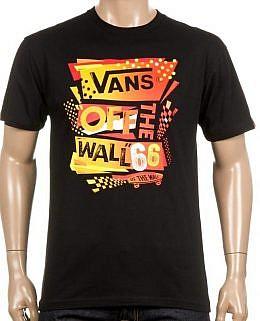 Vans - StenciledMen's T-Shirt(Black)