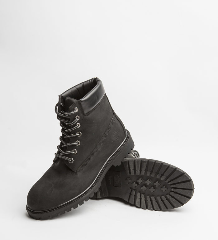 Dickies South Dakota Boots, Leather Crazyhorse, (Black)